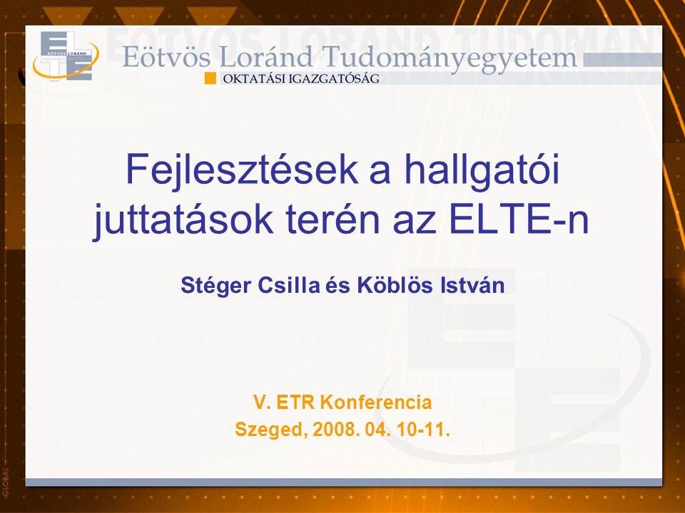 Fejlesztések a hallgatói juttatások terén az ELTE-n