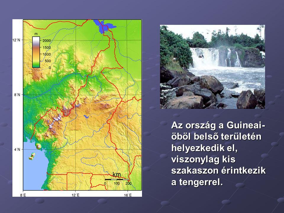 Az ország a Guineai-öböl belső területén helyezkedik el, viszonylag kis szakaszon érintkezik a tengerrel.