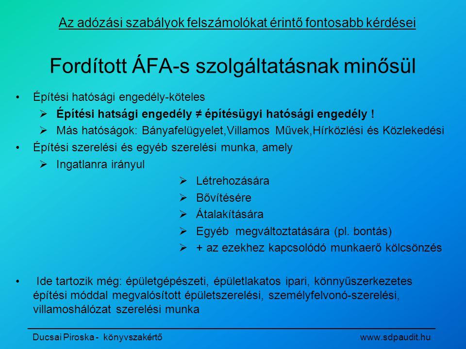 Fordított ÁFA-s szolgáltatásnak minősül