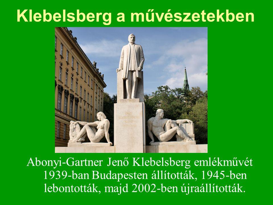 Klebelsberg a művészetekben