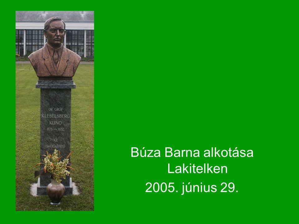 Búza Barna alkotása Lakitelken