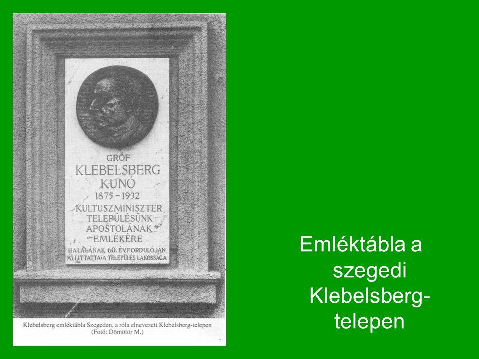 Emléktábla a szegedi Klebelsberg-telepen