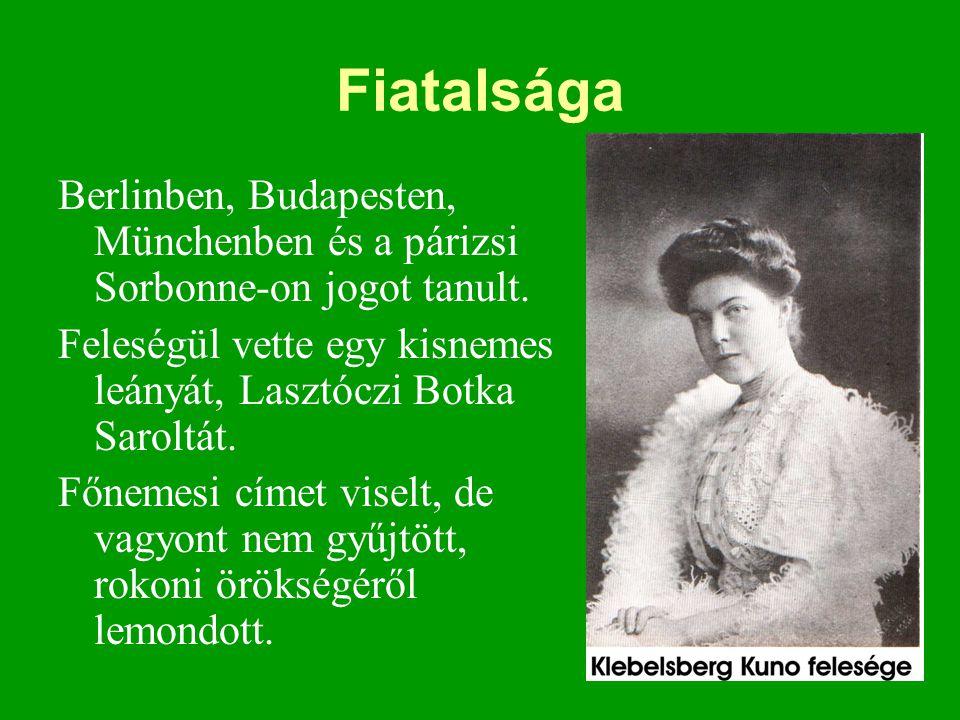 Fiatalsága Berlinben, Budapesten, Münchenben és a párizsi Sorbonne-on jogot tanult. Feleségül vette egy kisnemes leányát, Lasztóczi Botka Saroltát.