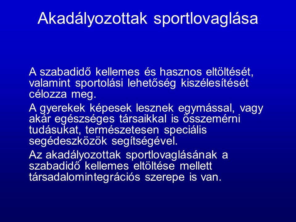 Akadályozottak sportlovaglása