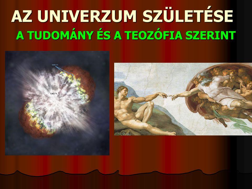 AZ UNIVERZUM SZÜLETÉSE