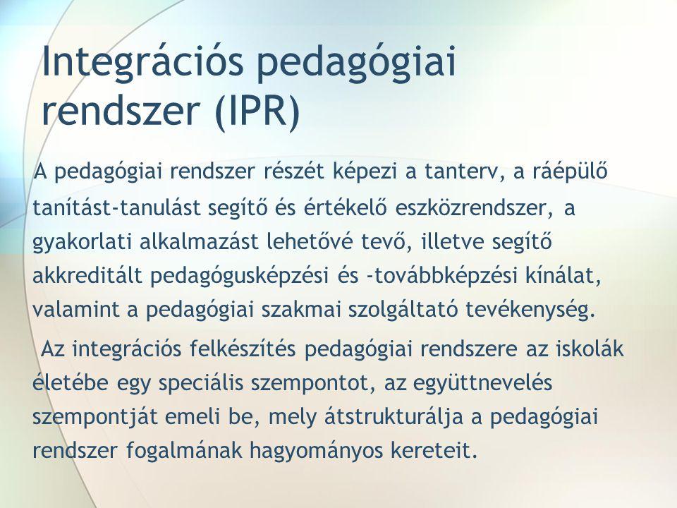 Integrációs pedagógiai rendszer (IPR)
