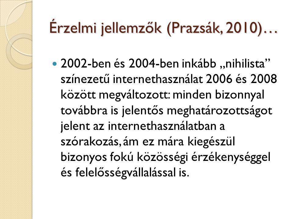 Érzelmi jellemzők (Prazsák, 2010)…