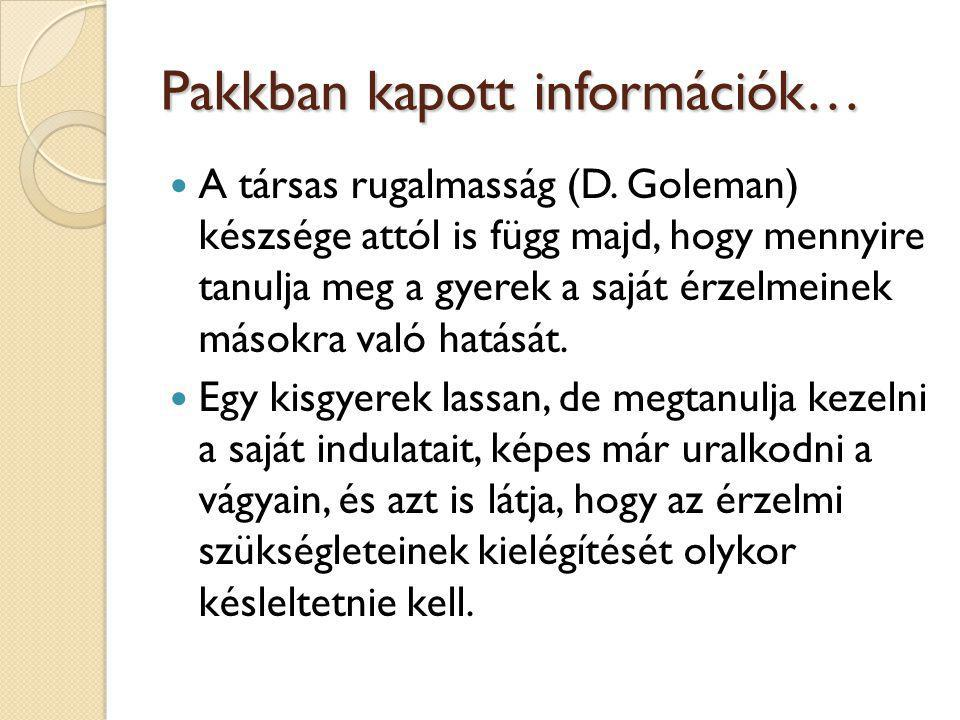 Pakkban kapott információk…