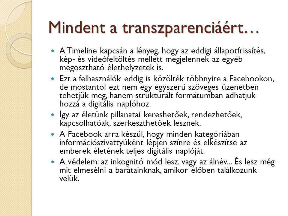 Mindent a transzparenciáért…