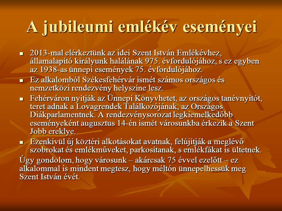 A jubileumi emlékév eseményei