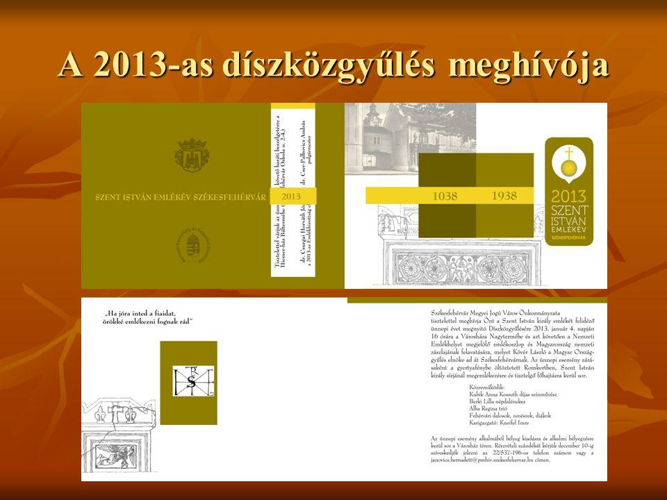A 2013-as díszközgyűlés meghívója