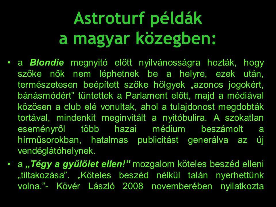 Astroturf példák a magyar közegben: