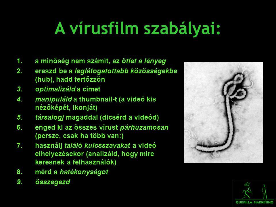 A vírusfilm szabályai: