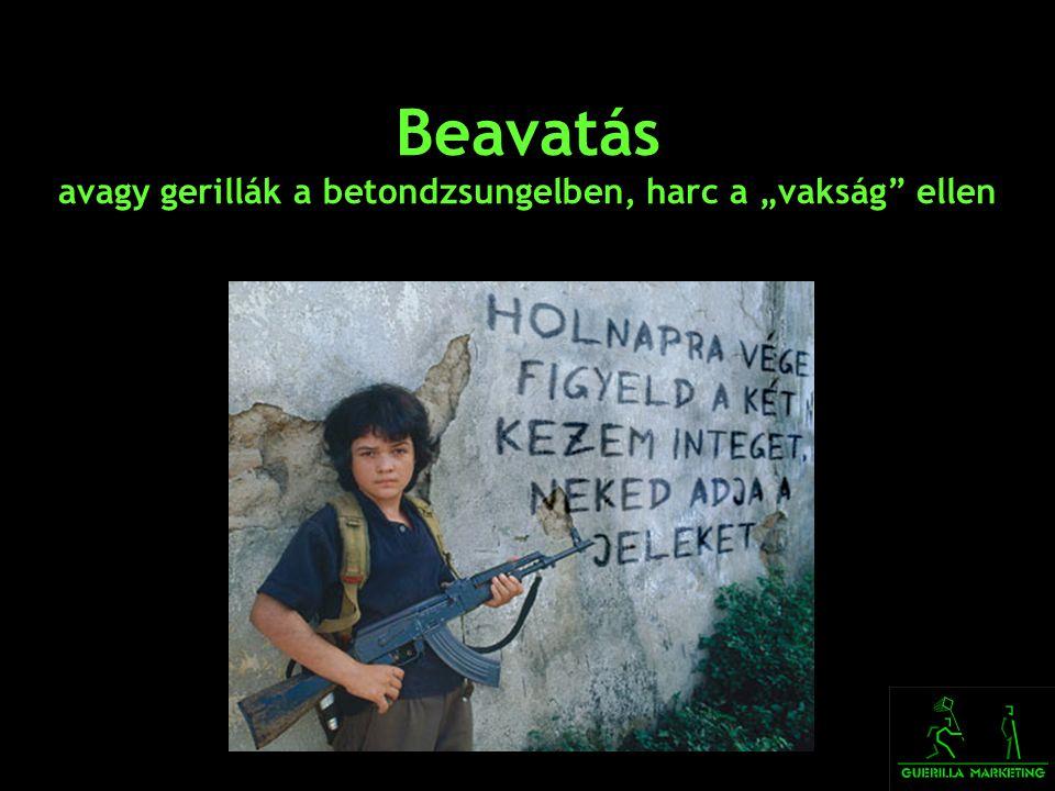 """Beavatás avagy gerillák a betondzsungelben, harc a """"vakság ellen"""