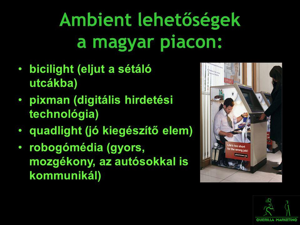 Ambient lehetőségek a magyar piacon: