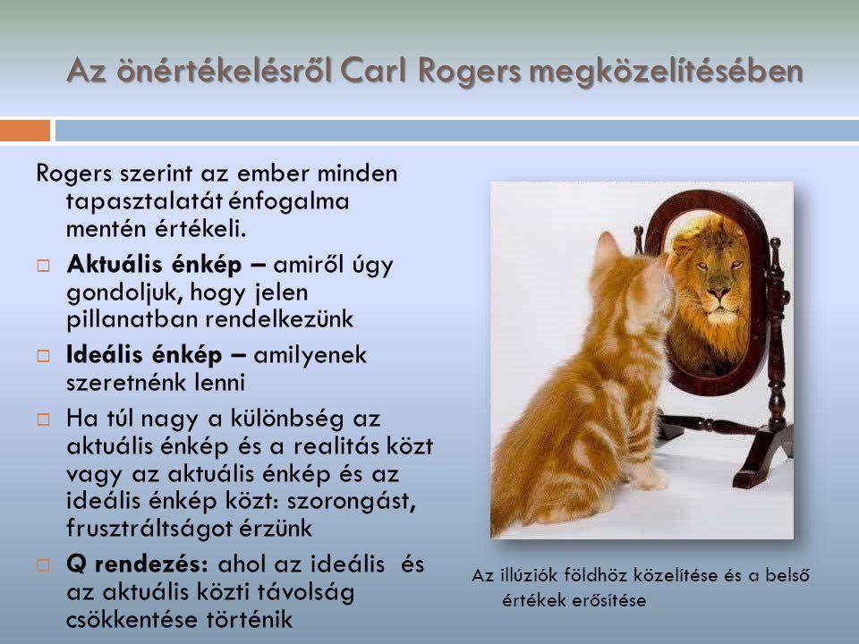 Az önértékelésről Carl Rogers megközelítésében