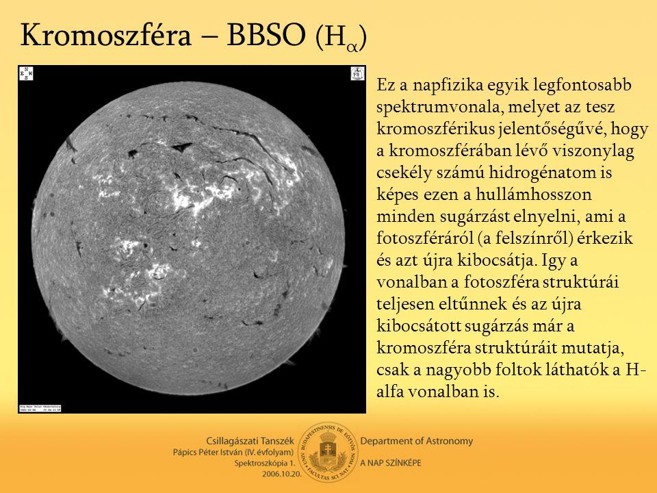 Kromoszféra – BBSO (Hα)