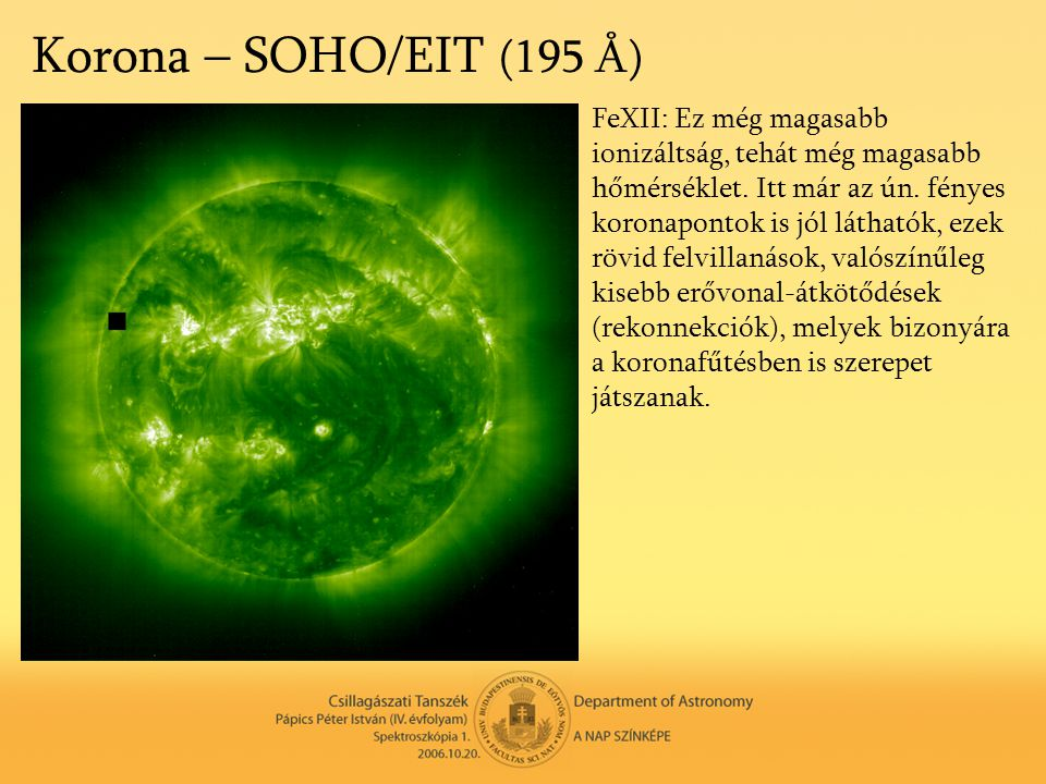 Korona – SOHO/EIT (195 Å)