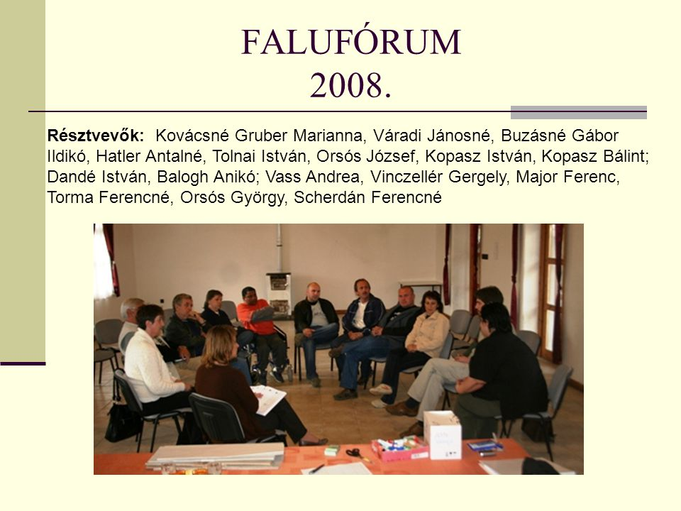FALUFÓRUM 2008.