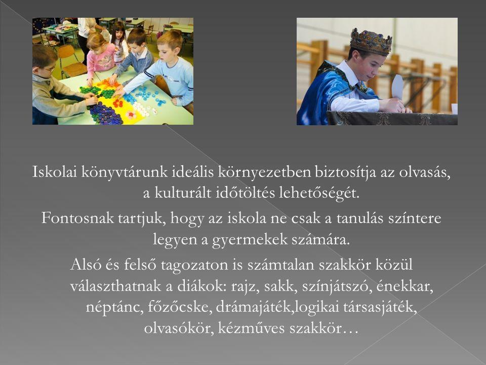 Iskolai könyvtárunk ideális környezetben biztosítja az olvasás, a kulturált időtöltés lehetőségét.