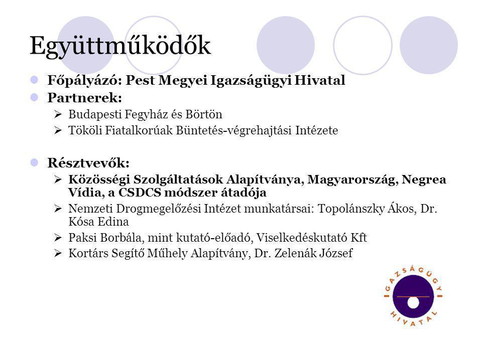 Együttműködők Főpályázó: Pest Megyei Igazságügyi Hivatal Partnerek:
