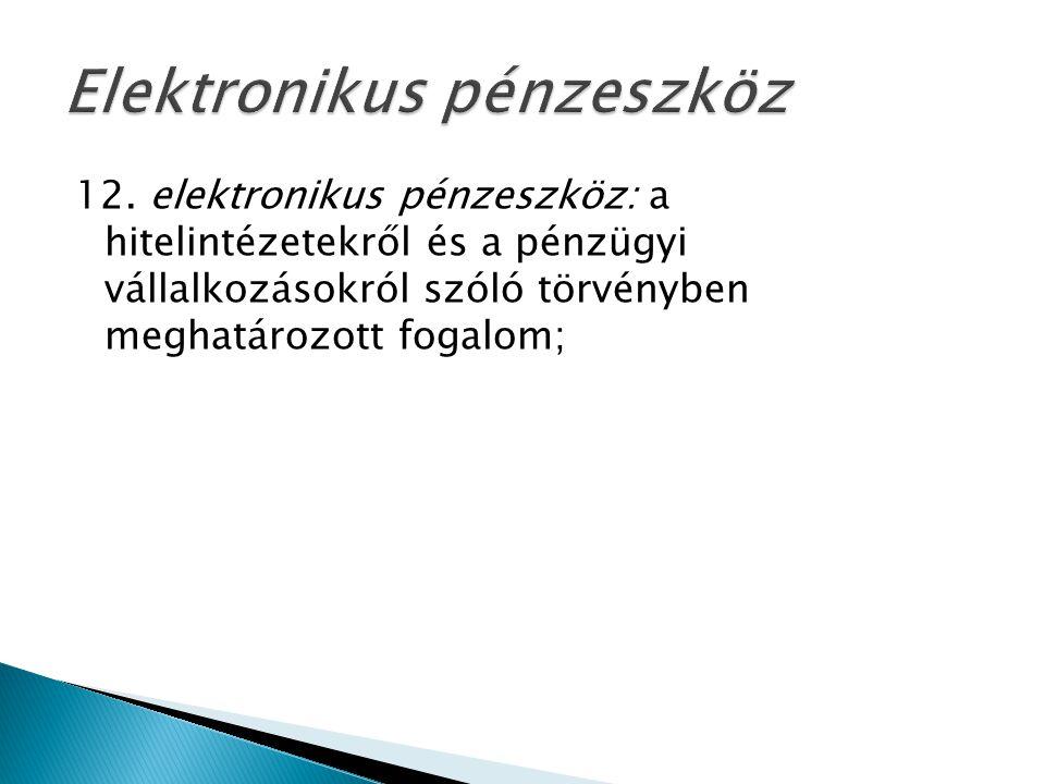 Elektronikus pénzeszköz