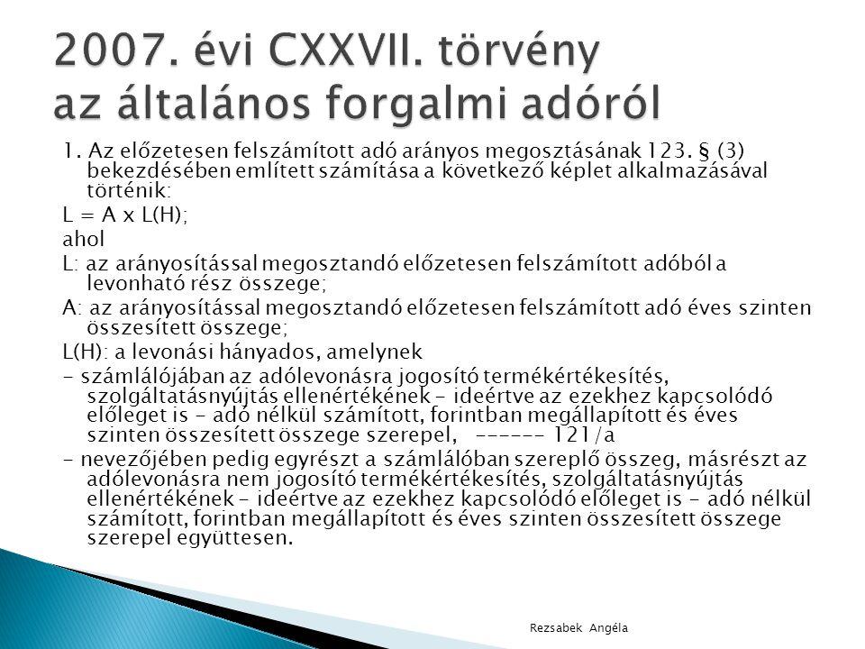 2007. évi CXXVII. törvény az általános forgalmi adóról