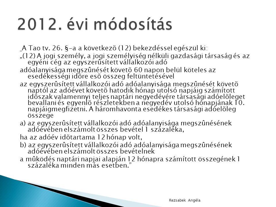 2012. évi módosítás