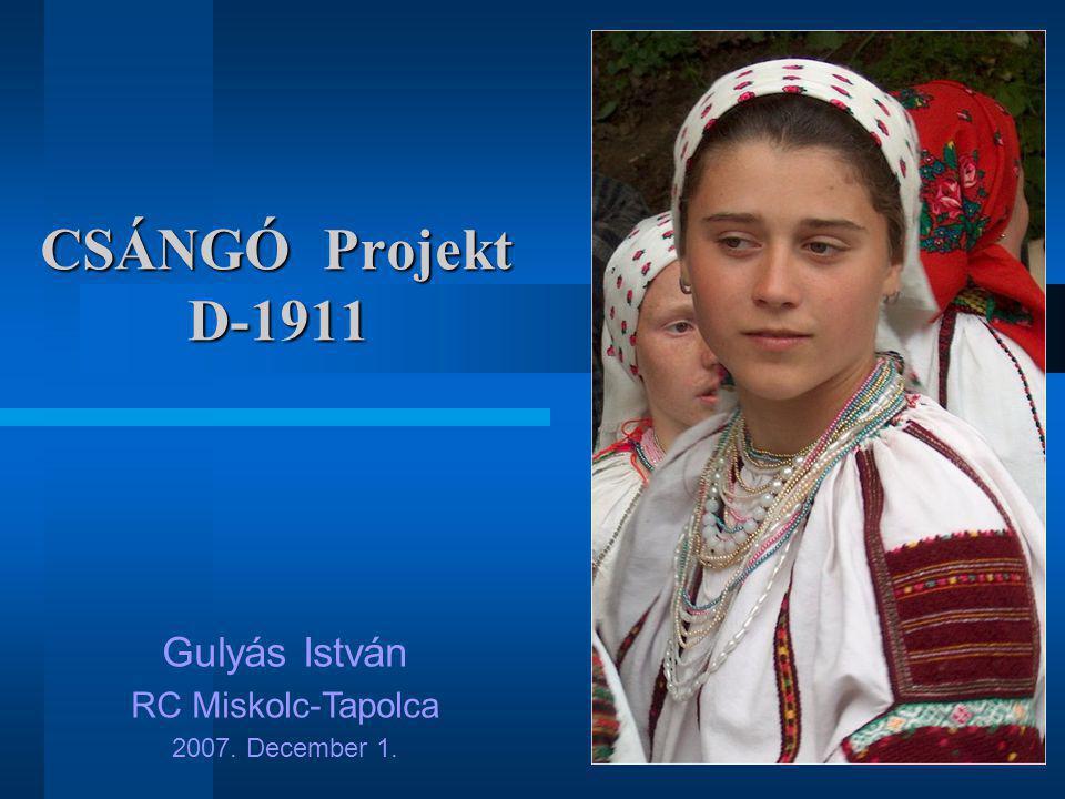 CSÁNGÓ Projekt D-1911 Gulyás István RC Miskolc-Tapolca