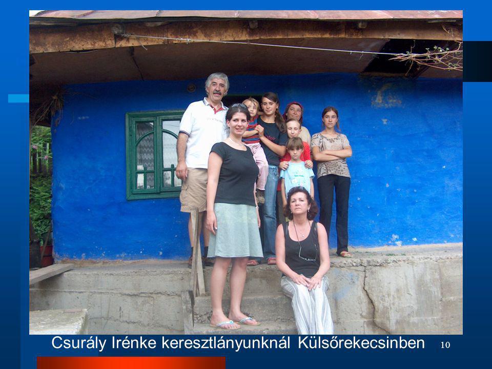 Csurály Irénke keresztlányunknál Külsőrekecsinben