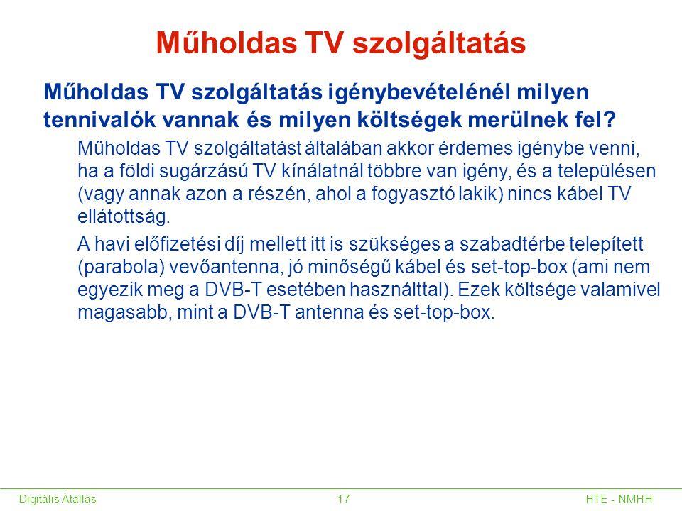 Műholdas TV szolgáltatás