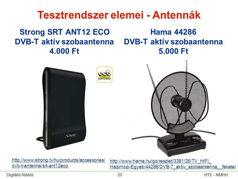 Tesztrendszer elemei - Antennák