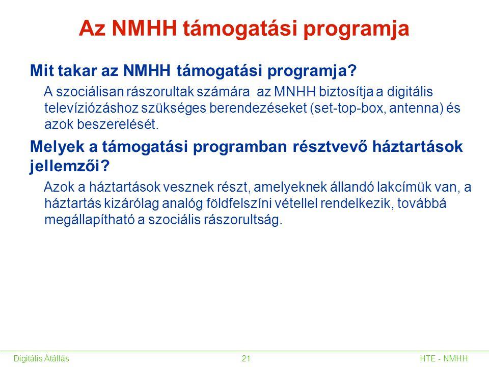 Az NMHH támogatási programja