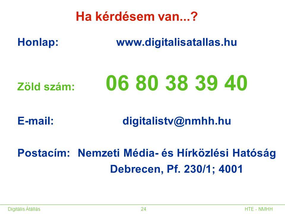 Ha kérdésem van... Honlap: www.digitalisatallas.hu