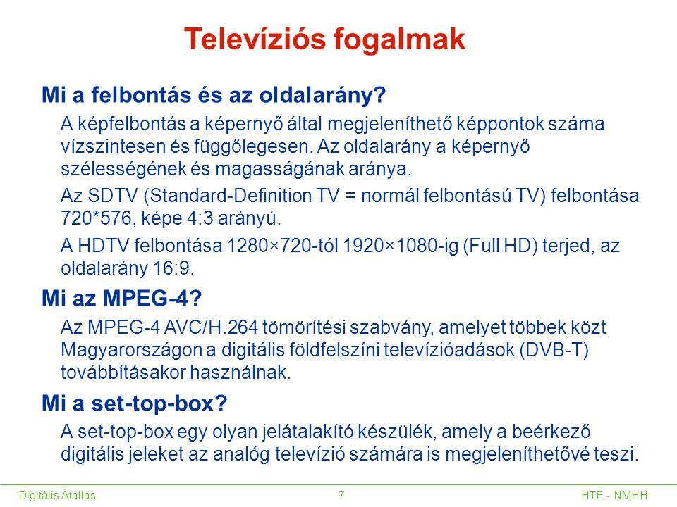 Televíziós fogalmak Mi a felbontás és az oldalarány Mi az MPEG-4