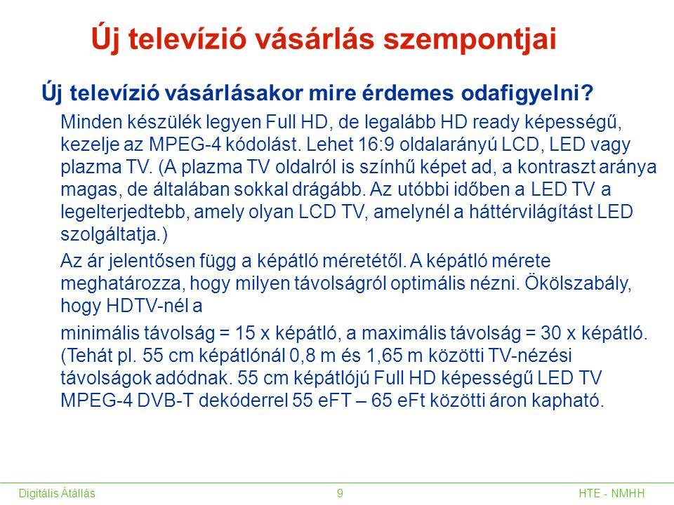 Új televízió vásárlás szempontjai