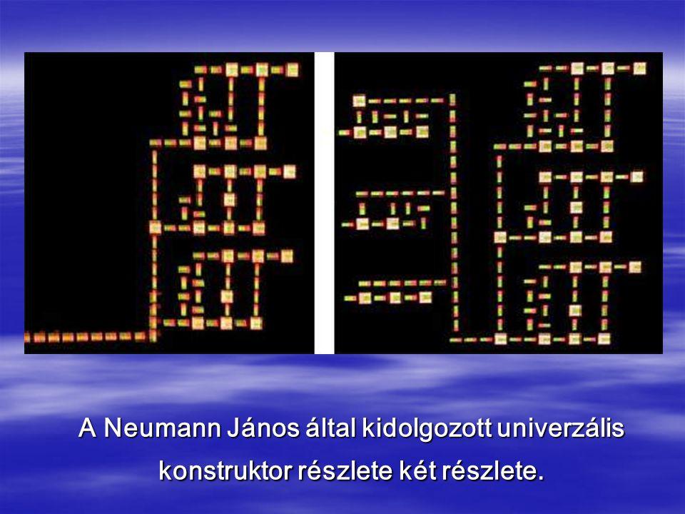A Neumann János által kidolgozott univerzális konstruktor részlete két részlete.