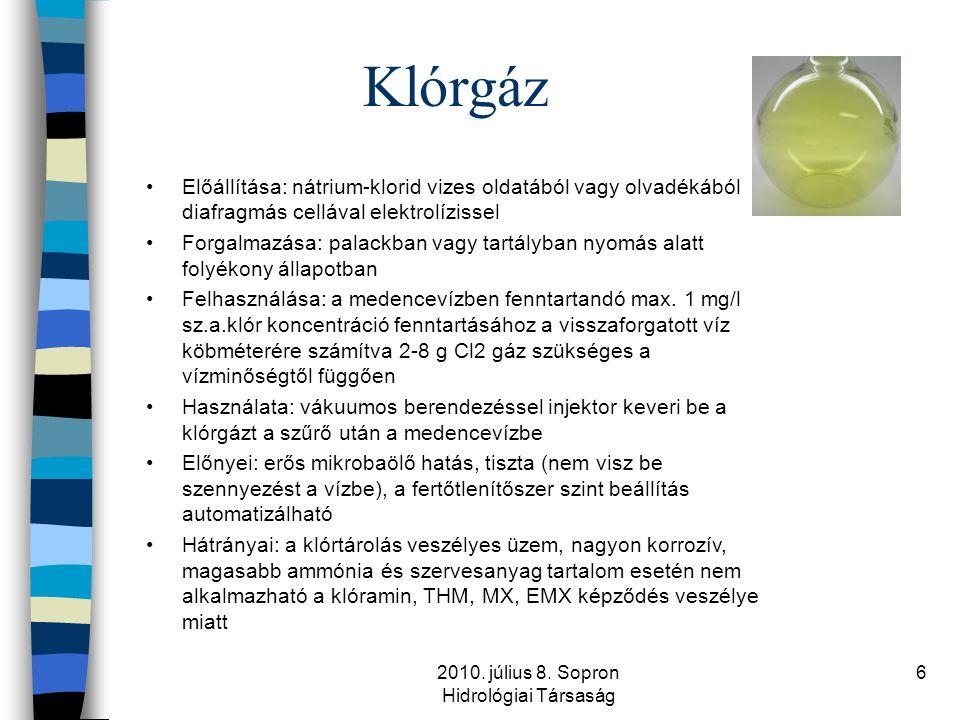 2010. július 8. Sopron Hidrológiai Társaság
