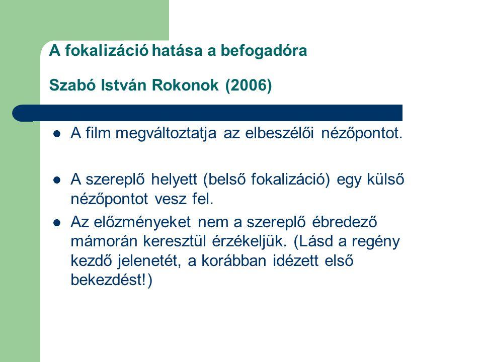A fokalizáció hatása a befogadóra Szabó István Rokonok (2006)