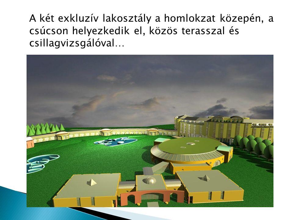 A két exkluzív lakosztály a homlokzat közepén, a csúcson helyezkedik el, közös terasszal és csillagvizsgálóval…