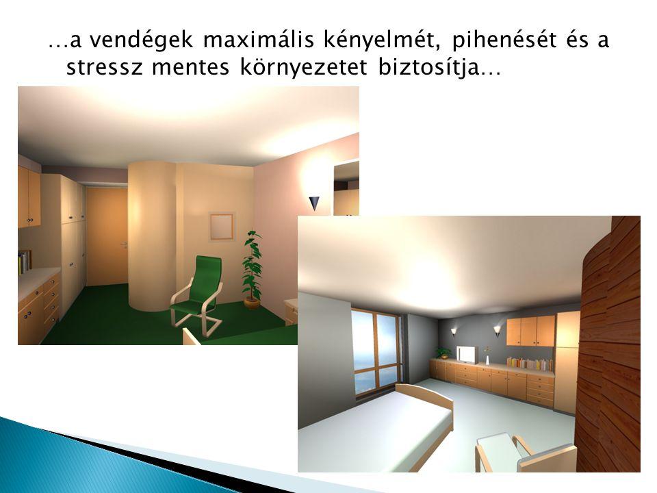 …a vendégek maximális kényelmét, pihenését és a stressz mentes környezetet biztosítja…