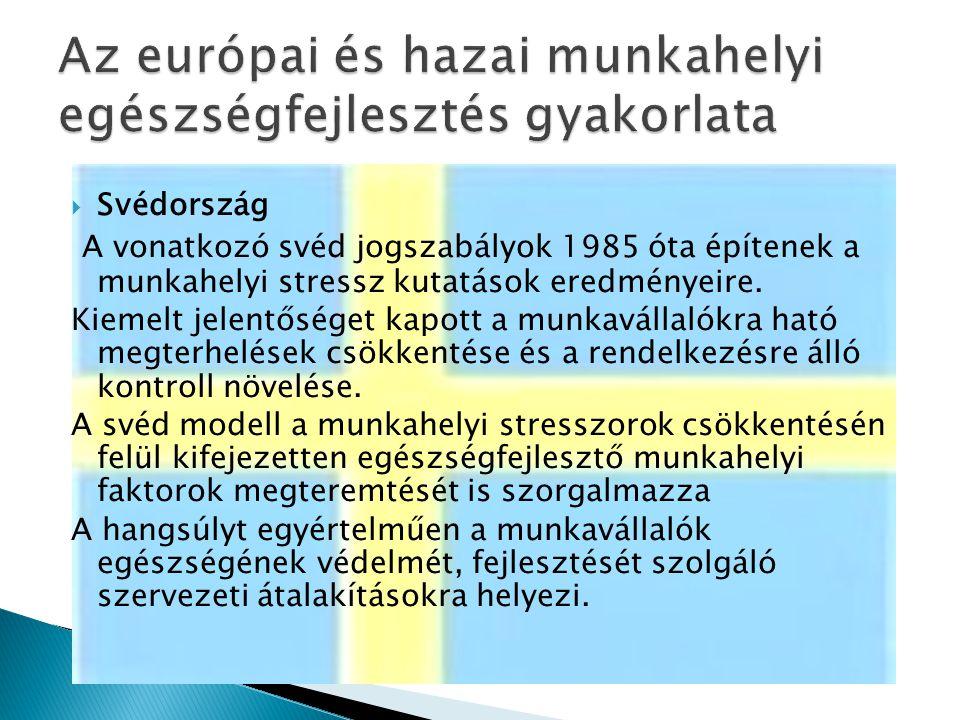 Az európai és hazai munkahelyi egészségfejlesztés gyakorlata