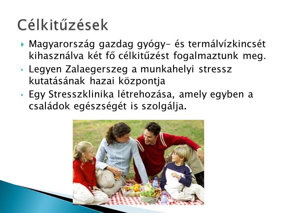 Célkitűzések Magyarország gazdag gyógy- és termálvízkincsét kihasználva két fő célkitűzést fogalmaztunk meg.