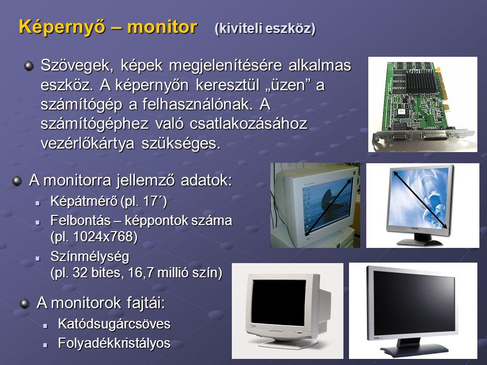 Képernyő – monitor (kiviteli eszköz)