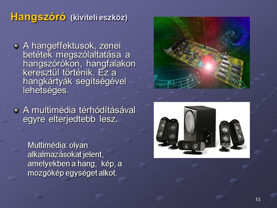 Hangszóró (kiviteli eszköz)
