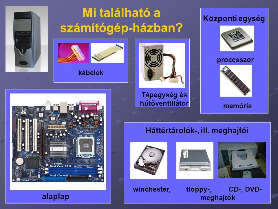 Mi található a számítógép-házban