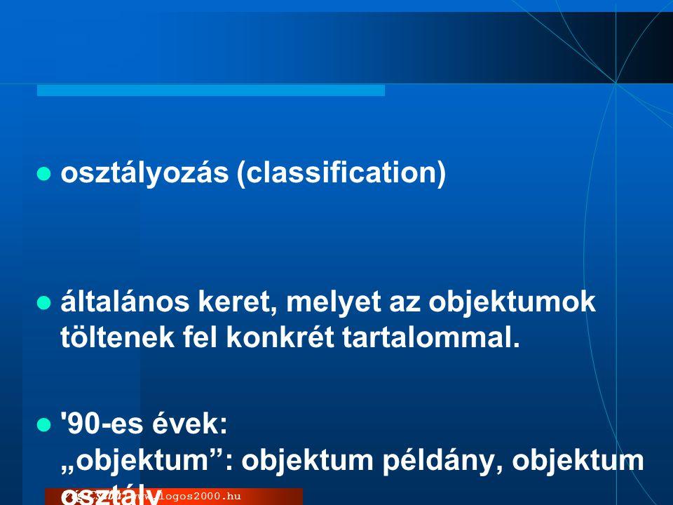 osztályozás (classification)