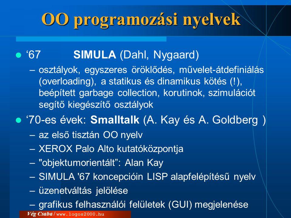 OO programozási nyelvek