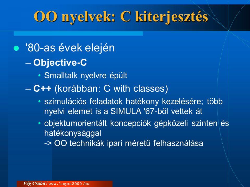 OO nyelvek: C kiterjesztés