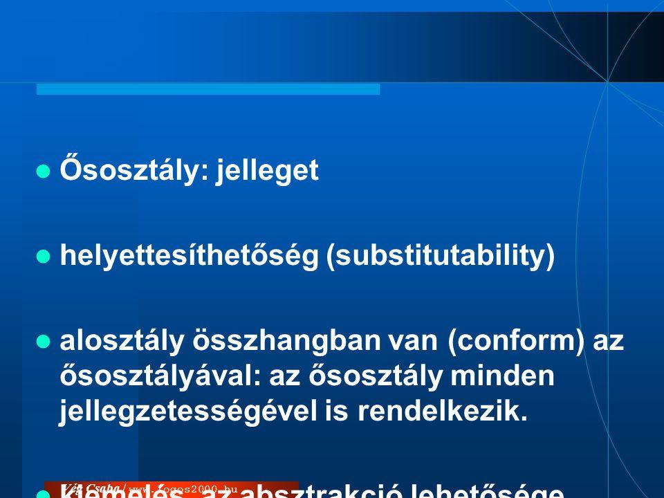 helyettesíthetőség (substitutability)